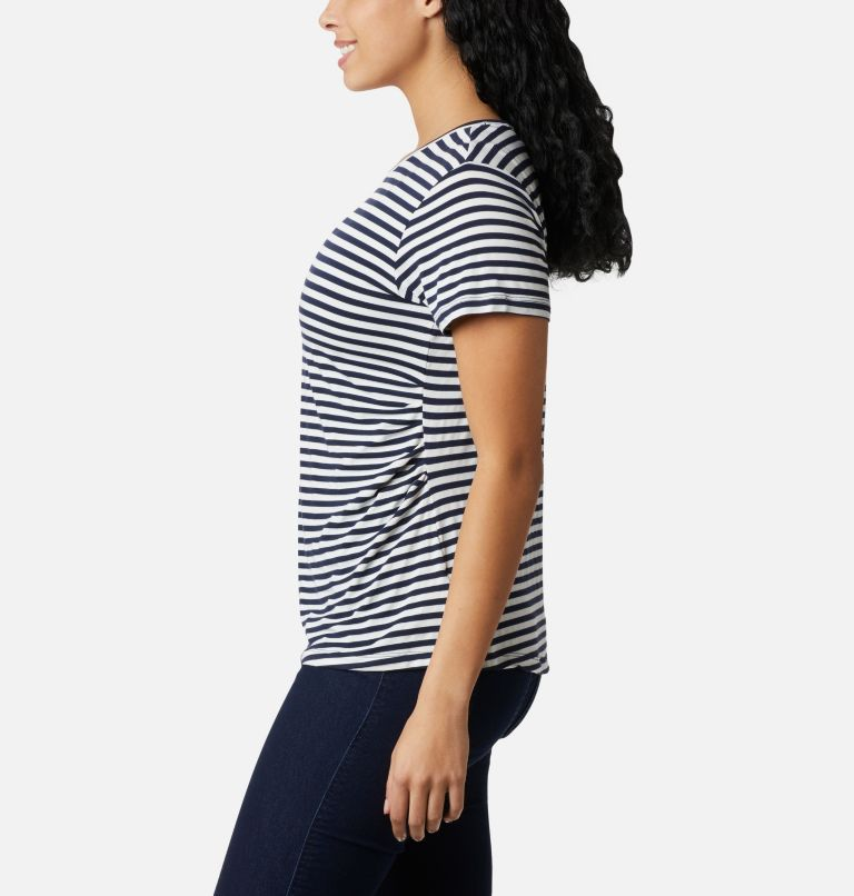 Women's Essential Elements™ Striped Short Sleeve Shirt Women's Essential Elements™ Striped Short Sleeve Shirt, a1