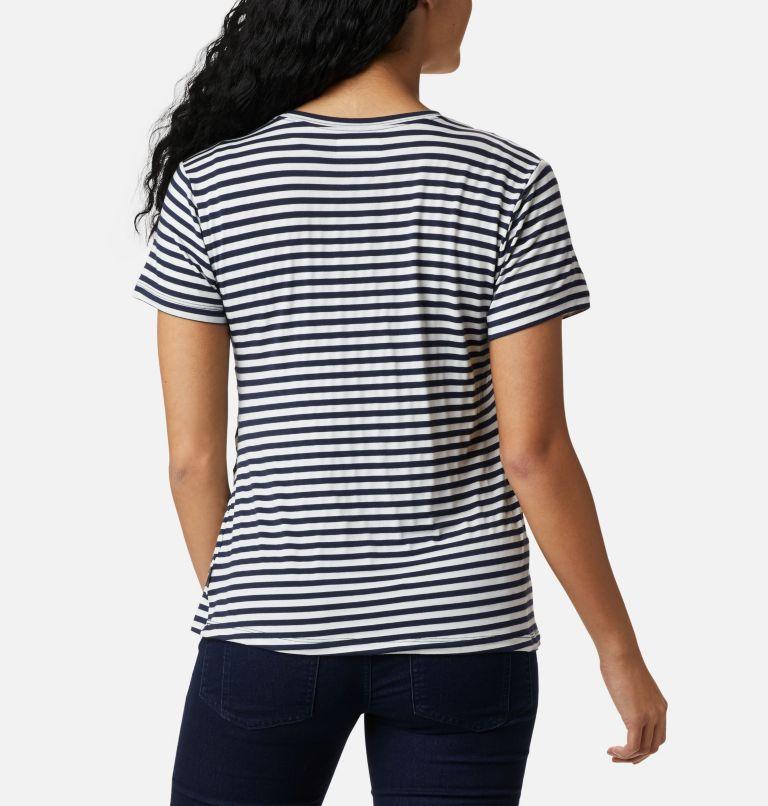 Women's Essential Elements™ Striped Short Sleeve Shirt Women's Essential Elements™ Striped Short Sleeve Shirt, back