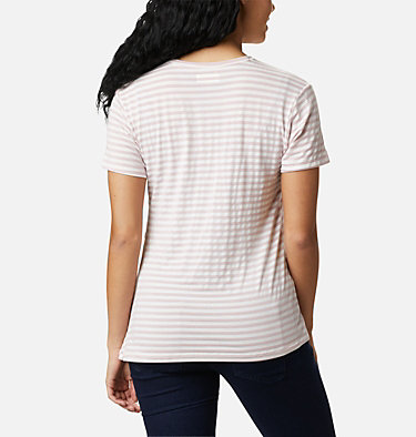 Women's Essential Elements™ Striped Short Sleeve Shirt Essential Elements™ Striped SS Shirt | 472 | L, Mineral Pink Stripe, back