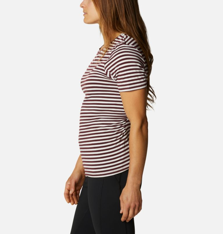 Women's Essential Elements™ Striped Short Sleeve Shirt Women's Essential Elements™ Striped Short Sleeve Shirt, a1