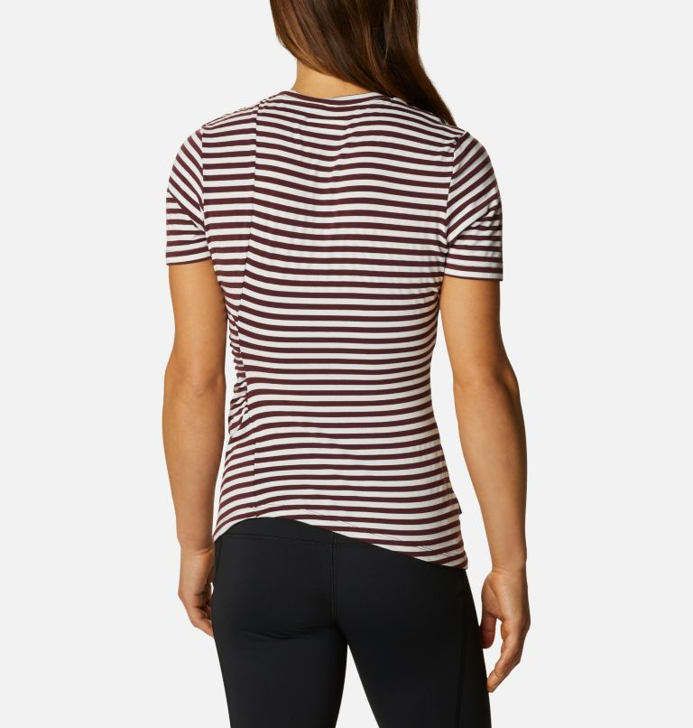 Women's Essential Elements™ Striped Short Sleeve Shirt Women's Essential Elements™ Striped Short Sleeve Shirt, back