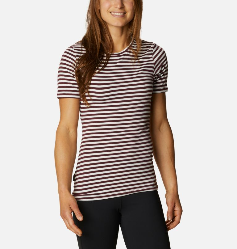 Women's Essential Elements™ Striped Short Sleeve Shirt Women's Essential Elements™ Striped Short Sleeve Shirt, front