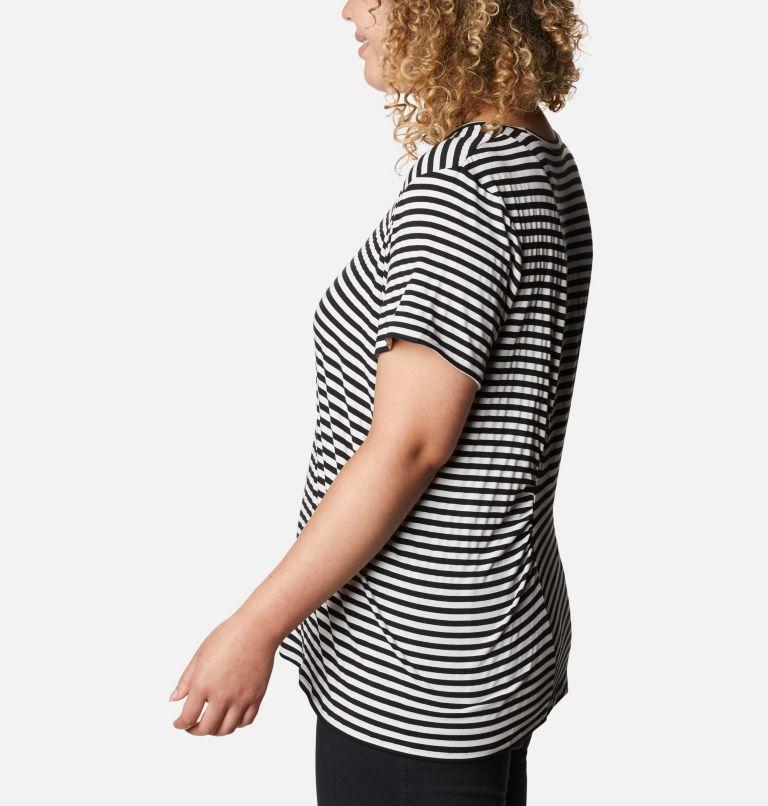 Women's Essential Elements™ Striped Short Sleeve Shirt - Plus Women's Essential Elements™ Striped Short Sleeve Shirt - Plus, a1