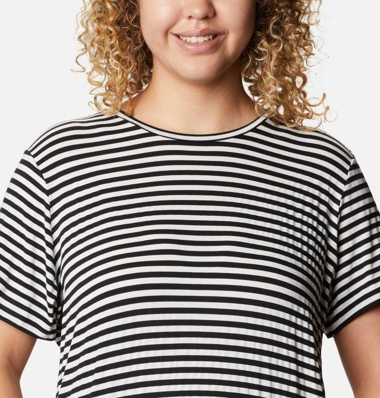 Women's Essential Elements™ Striped Short Sleeve Shirt - Plus Women's Essential Elements™ Striped Short Sleeve Shirt - Plus, a2