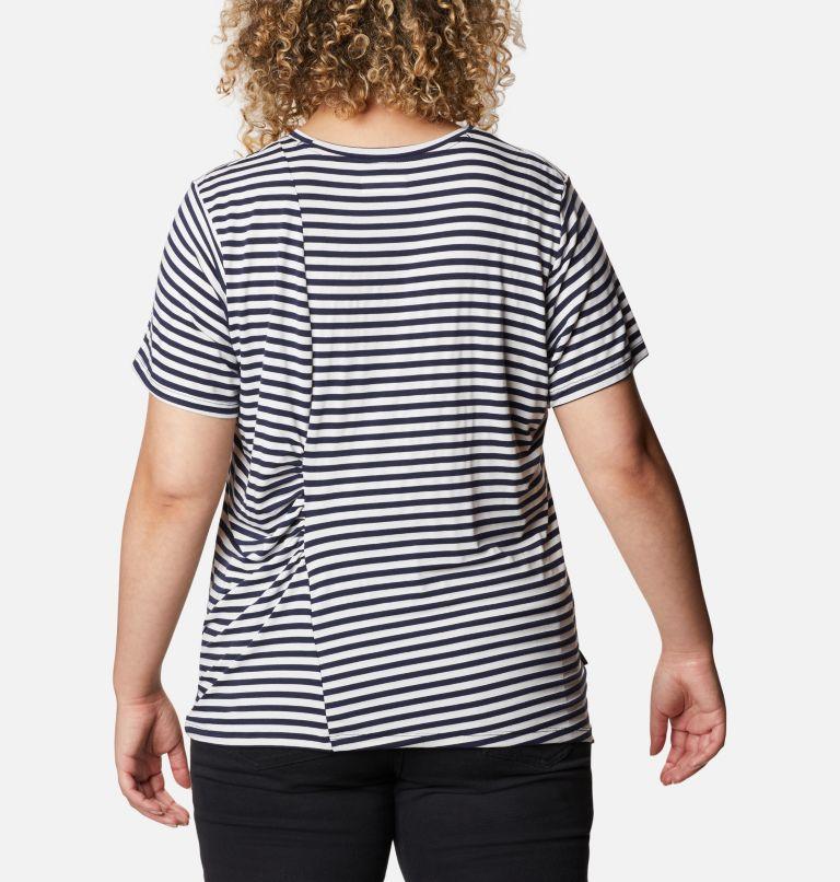 Women's Essential Elements™ Striped Short Sleeve Shirt - Plus Women's Essential Elements™ Striped Short Sleeve Shirt - Plus, back