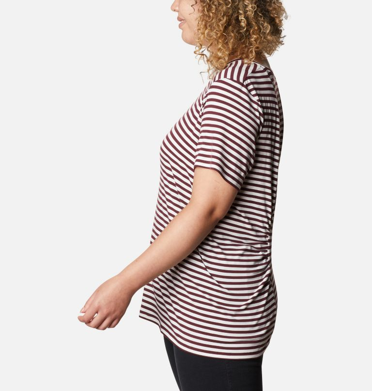 Women's Essential Elements™ Striped Short Sleeve Shirt - Plus Women's Essential Elements™ Striped Short Sleeve Shirt - Plus, a1