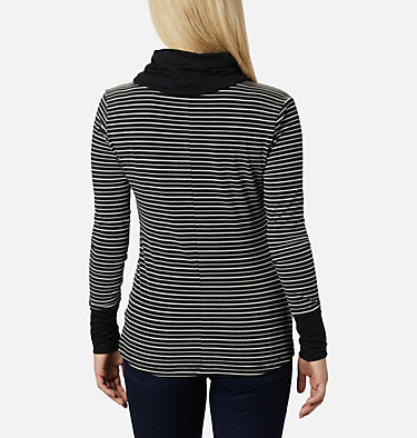 Chandail rayé à manches longues Essential Elements™ pour femme Essential Elements™ Striped LS Shirt | 458 | L, Black Stripe, back