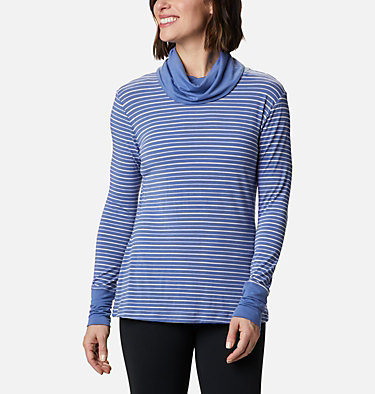 Chandail rayé à manches longues Essential Elements™ pour femme Essential Elements™ Striped LS Shirt | 458 | L, Velvet Cove Stripe, front