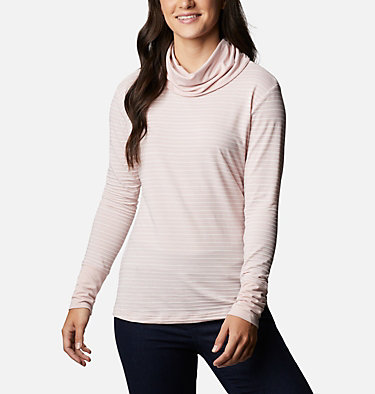 Chandail rayé à manches longues Essential Elements™ pour femme Essential Elements™ Striped LS Shirt | 458 | L, Mineral Pink Stripe, front