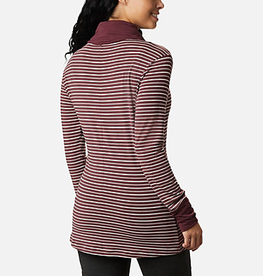 Chandail rayé à manches longues Essential Elements™ pour femme Essential Elements™ Striped LS Shirt | 458 | L, Malbec Stripe, back