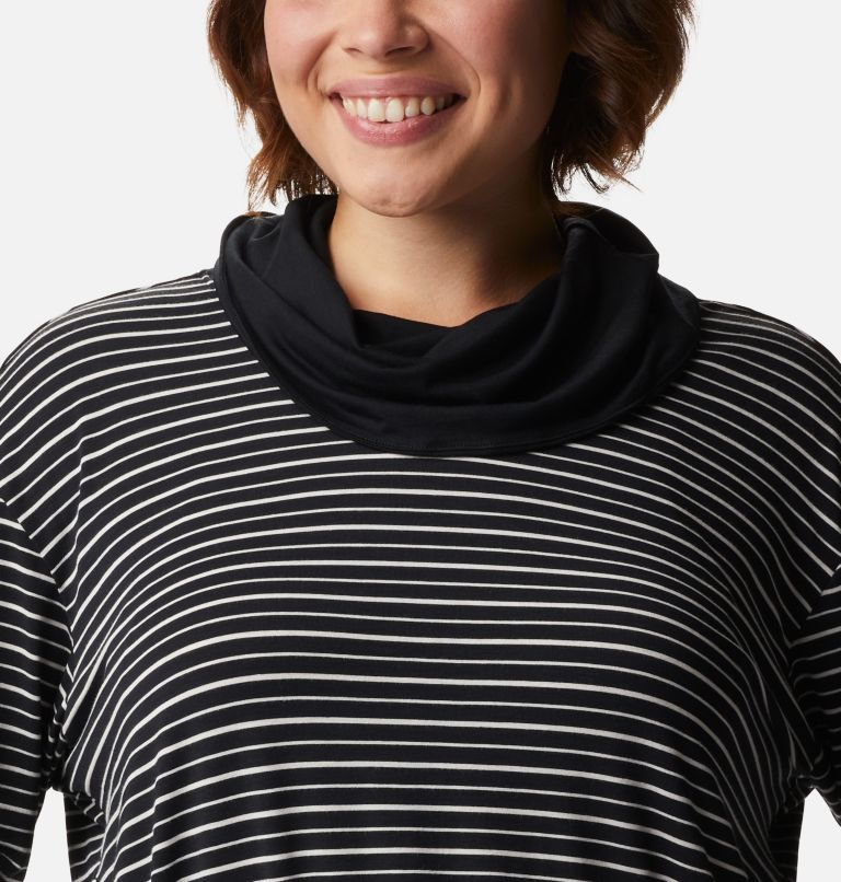 Women's Essential Elements™ Striped Long Sleeve Shirt - Plus Size Women's Essential Elements™ Striped Long Sleeve Shirt - Plus Size, a2