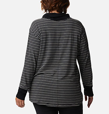 Chandail rayé à manches longues Essential Elements™ pour femme - Grandes tailles Essential Elements™ Striped LS Shirt | 010 | 1X, Black Stripe, back
