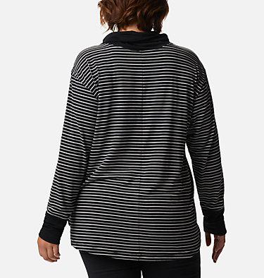 Women's Essential Elements™ Striped Long Sleeve Shirt - Plus Size Essential Elements™ Striped LS Shirt | 010 | 1X, Black Stripe, back