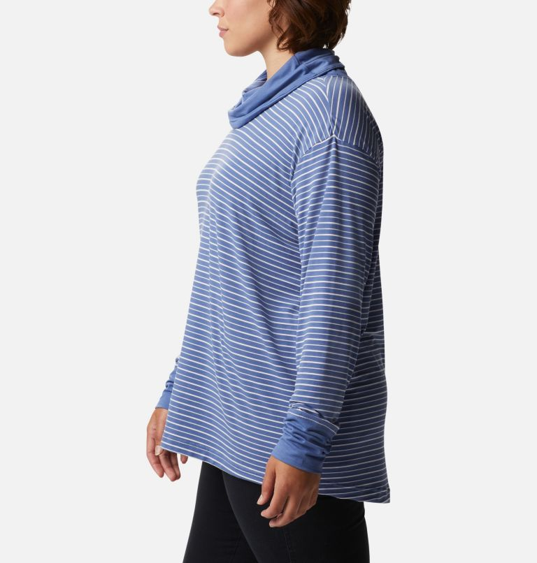 Women's Essential Elements™ Striped Long Sleeve Shirt - Plus Size Women's Essential Elements™ Striped Long Sleeve Shirt - Plus Size, a1