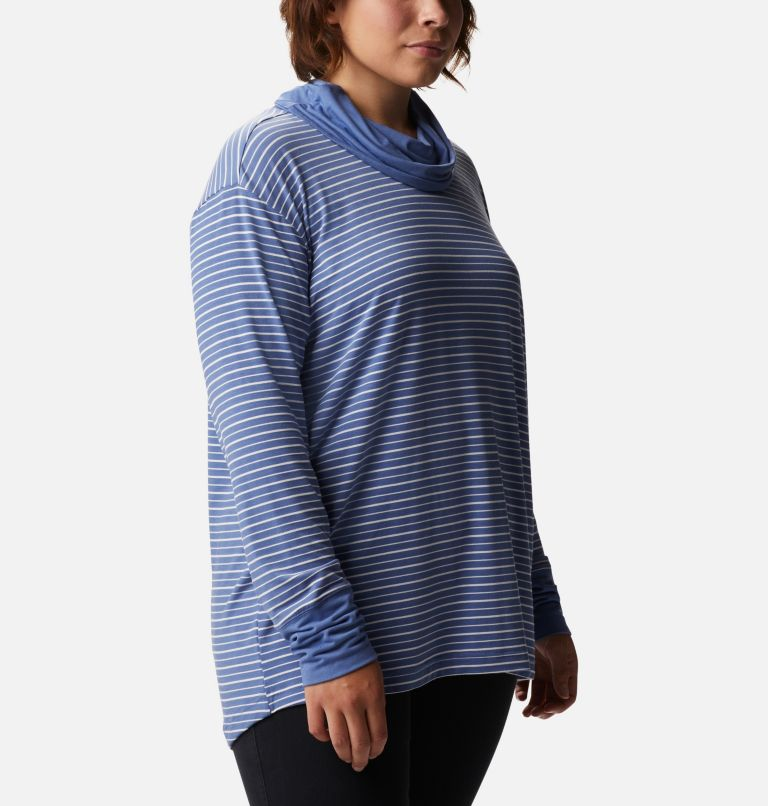 Women's Essential Elements™ Striped Long Sleeve Shirt - Plus Size Women's Essential Elements™ Striped Long Sleeve Shirt - Plus Size, a3