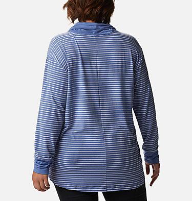 Women's Essential Elements™ Striped Long Sleeve Shirt - Plus Size Essential Elements™ Striped LS Shirt | 010 | 1X, Velvet Cove Stripe, back