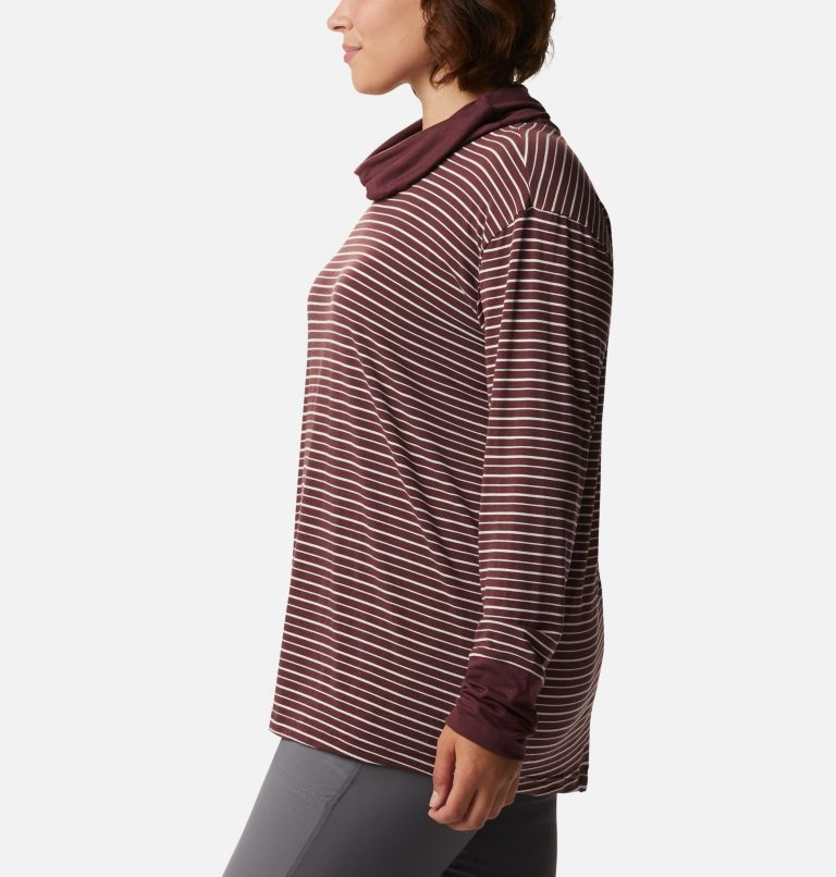 Women's Essential Elements™ Striped Long Sleeve Shirt - Plus Size Women's Essential Elements™ Striped Long Sleeve Shirt - Plus Size, a1