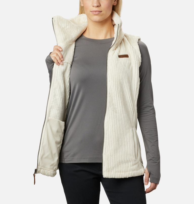 Fire Side™ Sherpa Vest | 191 | S Women's Fire Side™ Sherpa Vest, Chalk Stripe, a3