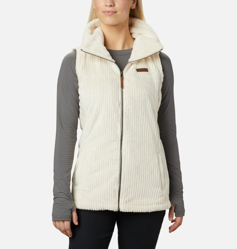 Fire Side™ Sherpa Vest | 191 | S Women's Fire Side™ Sherpa Vest, Chalk Stripe, front