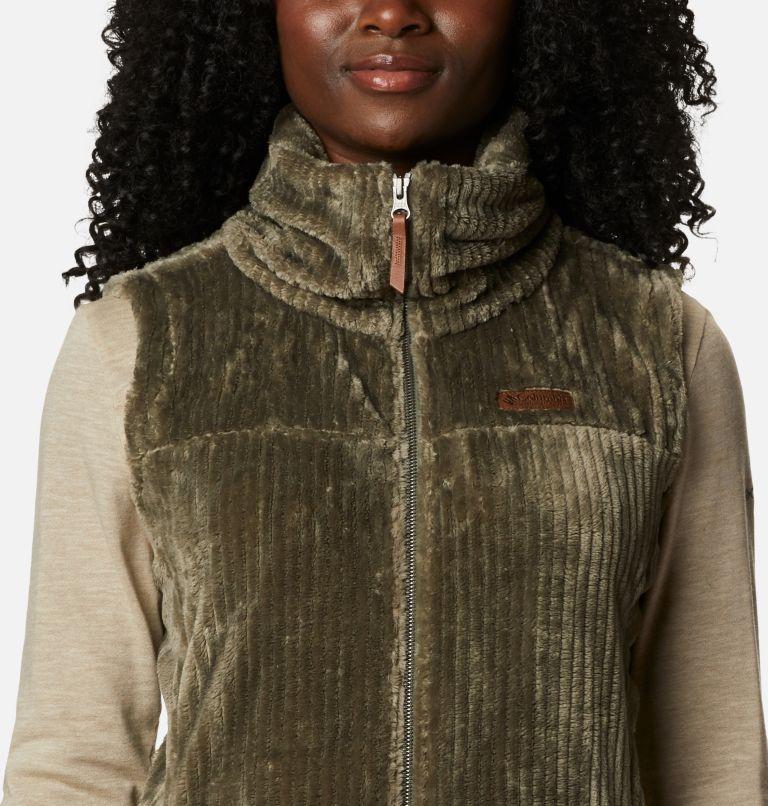 Fire Side™ Sherpa Vest | 397 | M Women's Fire Side™ Sherpa Vest, Stone Green Stripe, a2
