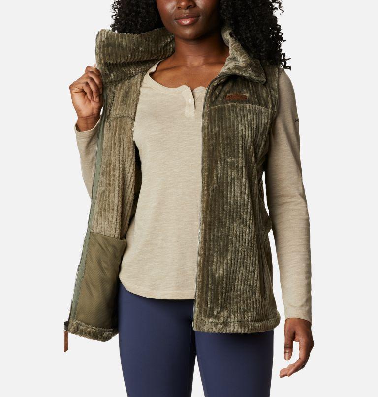 Fire Side™ Sherpa Vest | 397 | M Women's Fire Side™ Sherpa Vest, Stone Green Stripe, a3