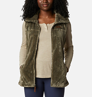 Women's Fire Side™ Sherpa Vest Fire Side™ Sherpa Vest | 191 | L, Stone Green Stripe, front