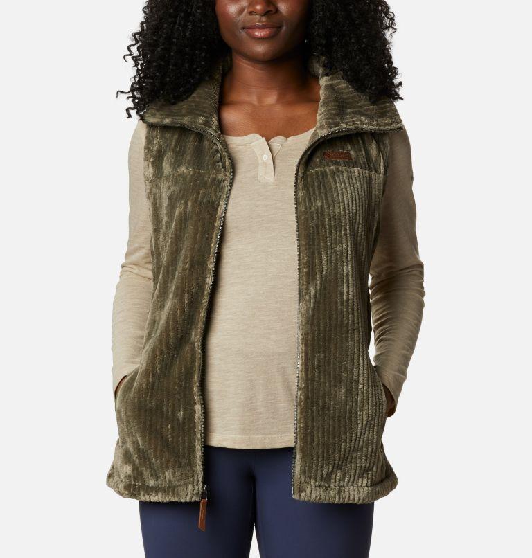 Fire Side™ Sherpa Vest | 397 | M Women's Fire Side™ Sherpa Vest, Stone Green Stripe, front