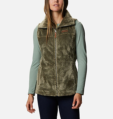 Women's Fire Side™ Sherpa Vest Fire Side™ Sherpa Vest | 398 | L, Stone Green, front