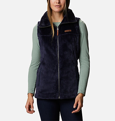 Women's Fire Side™ Sherpa Vest Fire Side™ Sherpa Vest | 398 | L, Dark Nocturnal Stripe, front