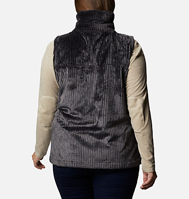 Women's Fire Side™ Sherpa Vest - Plus Size Fire Side™ Sherpa Vest | 397 | 1X, Shark Stripe, back