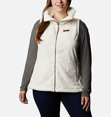 Women's Fire Side™ Sherpa Vest - Plus Size Fire Side™ Sherpa Vest | 397 | 1X, Chalk Stripe, front