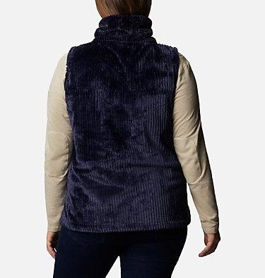 Women's Fire Side™ Sherpa Vest - Plus Size Fire Side™ Sherpa Vest | 397 | 1X, Dark Nocturnal Stripe, back