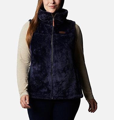 Women's Fire Side™ Sherpa Vest - Plus Size Fire Side™ Sherpa Vest | 397 | 1X, Dark Nocturnal Stripe, front