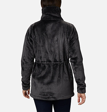 Women's Fire Side™ Long Full Zip Sherpa Fleece Jacket Fire Side™ Sherpa Long FZ | 191 | L, Shark Stripe, back