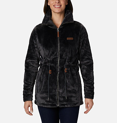 Women's Fire Side™ Long Full Zip Sherpa Fleece Jacket Fire Side™ Sherpa Long FZ | 191 | L, Shark Stripe, front