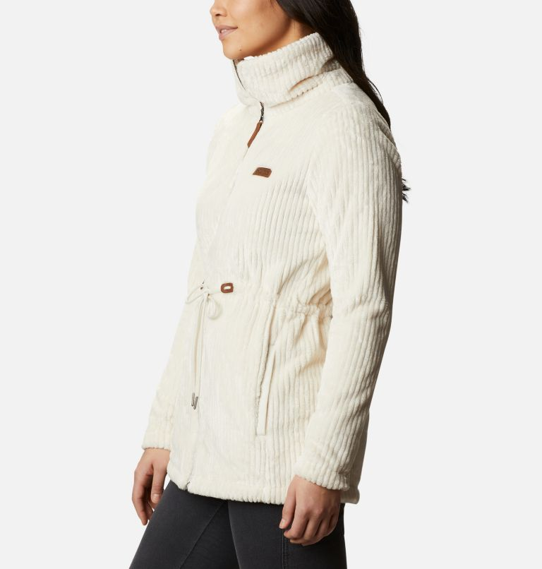 Fire Side™ Sherpa Long FZ | 191 | M Women's Fire Side™ Long Full Zip Sherpa Fleece Jacket, Chalk Stripe, a1