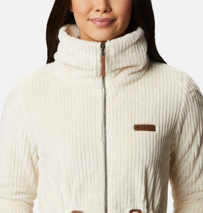 Fire Side™ Sherpa Long FZ | 191 | M Women's Fire Side™ Long Full Zip Sherpa Fleece Jacket, Chalk Stripe, a2