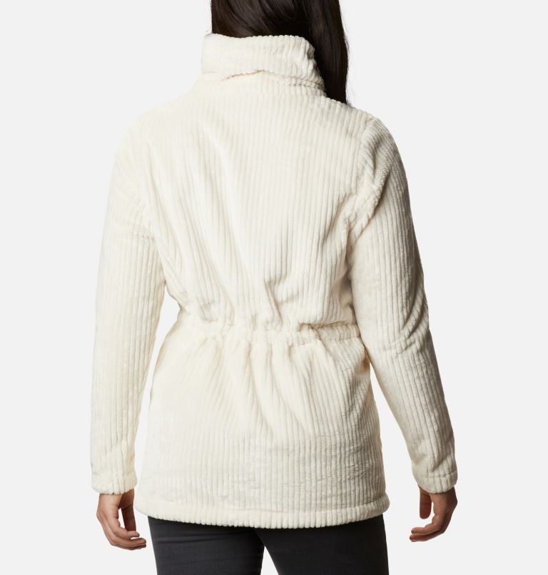 Fire Side™ Sherpa Long FZ | 191 | M Women's Fire Side™ Long Full Zip Sherpa Fleece Jacket, Chalk Stripe, back