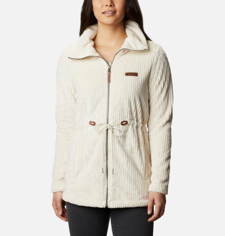 Fire Side™ Sherpa Long FZ | 191 | XXL Women's Fire Side™ Long Full Zip Sherpa Fleece Jacket, Chalk Stripe, front