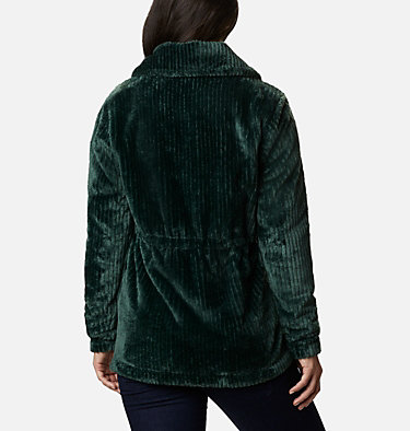 Women's Fire Side™ Long Full Zip Sherpa Fleece Jacket Fire Side™ Sherpa Long FZ | 191 | L, Spruce Stripe, back