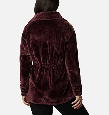 Women's Fire Side™ Long Full Zip Sherpa Fleece Jacket Fire Side™ Sherpa Long FZ | 191 | L, Malbec Stripe, back