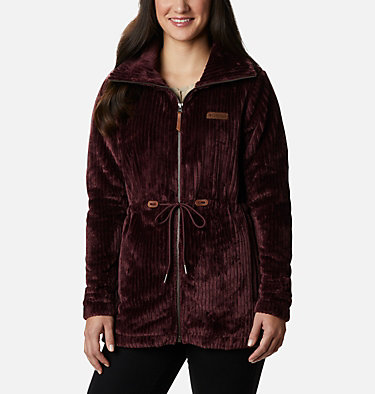 Women's Fire Side™ Long Full Zip Sherpa Fleece Jacket Fire Side™ Sherpa Long FZ | 191 | L, Malbec Stripe, front