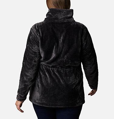 Women's Fire Side™ Long Full Zip Sherpa Fleece Jacket - Plus Size Fire Side™ Sherpa Long FZ | 472 | 1X, Shark Stripe, back