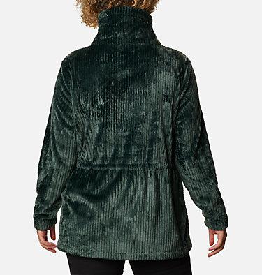 Women's Fire Side™ Long Full Zip Sherpa Fleece Jacket - Plus Size Fire Side™ Sherpa Long FZ | 472 | 1X, Spruce Stripe, back