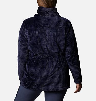 Women's Fire Side™ Long Full Zip Sherpa Fleece Jacket - Plus Size Fire Side™ Sherpa Long FZ | 472 | 1X, Dark Nocturnal Stripe, back