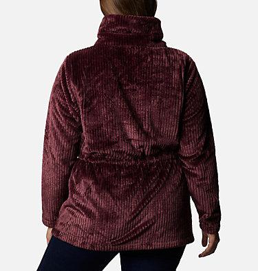 Women's Fire Side™ Long Full Zip Sherpa Fleece Jacket - Plus Size Fire Side™ Sherpa Long FZ | 472 | 1X, Malbec Stripe, back