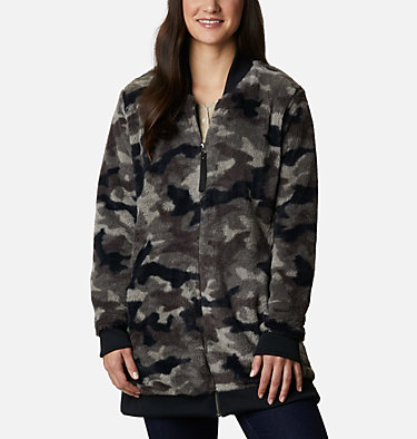Manteau imprimé en laine polaire Bundle Up™ pour femme Bundle Up™ Printed Fleece | 472 | XS, Black Camo, front