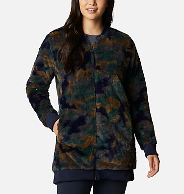 Women's Bundle Up™ Printed Fleece Jacket Bundle Up™ Printed Fleece | 472 | XS, Dark Nocturnal Camo, front