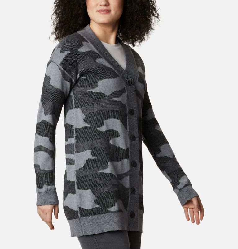 Firwood™ Sweater Cardigan | 010 | L Women's Firwood™ Sweater Cardigan, Black Camo, a3