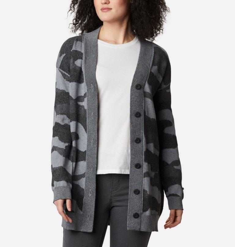 Firwood™ Sweater Cardigan | 010 | L Women's Firwood™ Sweater Cardigan, Black Camo, front